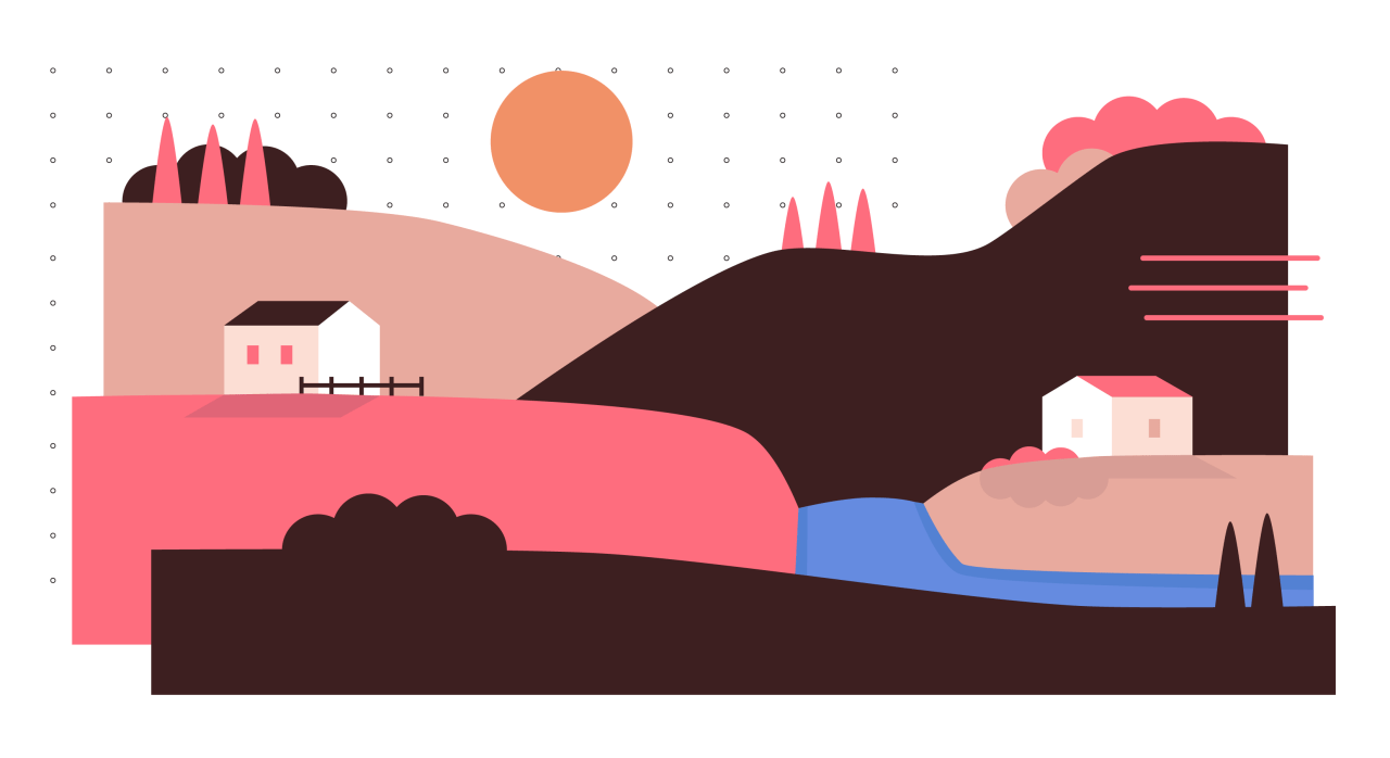 Shades of pink landscape